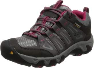 Keen Women's Oakridge WP Running Shoes, Magnet/Rose