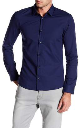 BOSS Slim Fit Textured Long Sleeve Shirt