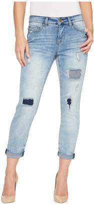 Tribal Boyfriend Fit 25 Ripped and Repaired 25 Pants in Blue Women's Jeans
