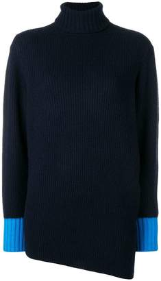 Sportmax cashmere turtleneck asymmetric sweater