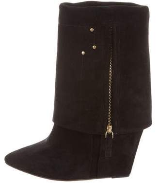 Jerome Dreyfuss Suede Wedge Boots