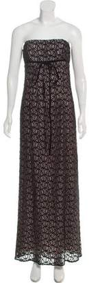 Nicole Miller Strapless Lace Gown