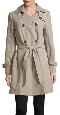 French Connection Double-Breasted Trench Coat
