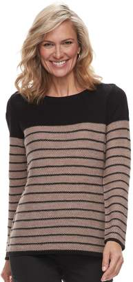 Croft & Barrow Petite Textured Crewneck Sweater