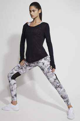 French Connection Comfort Stretch Marble Print Performance Leggings