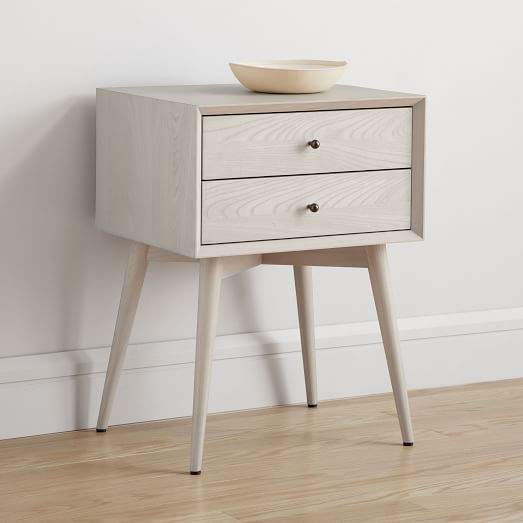 west elm Mid-Century 3-Drawer Dresser - Pebble