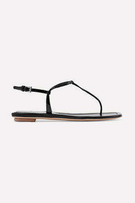 Prada Patent-leather Sandals - Black