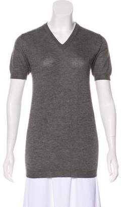 Dolce & Gabbana Cashmere-Blend Short Sleeve Sweater