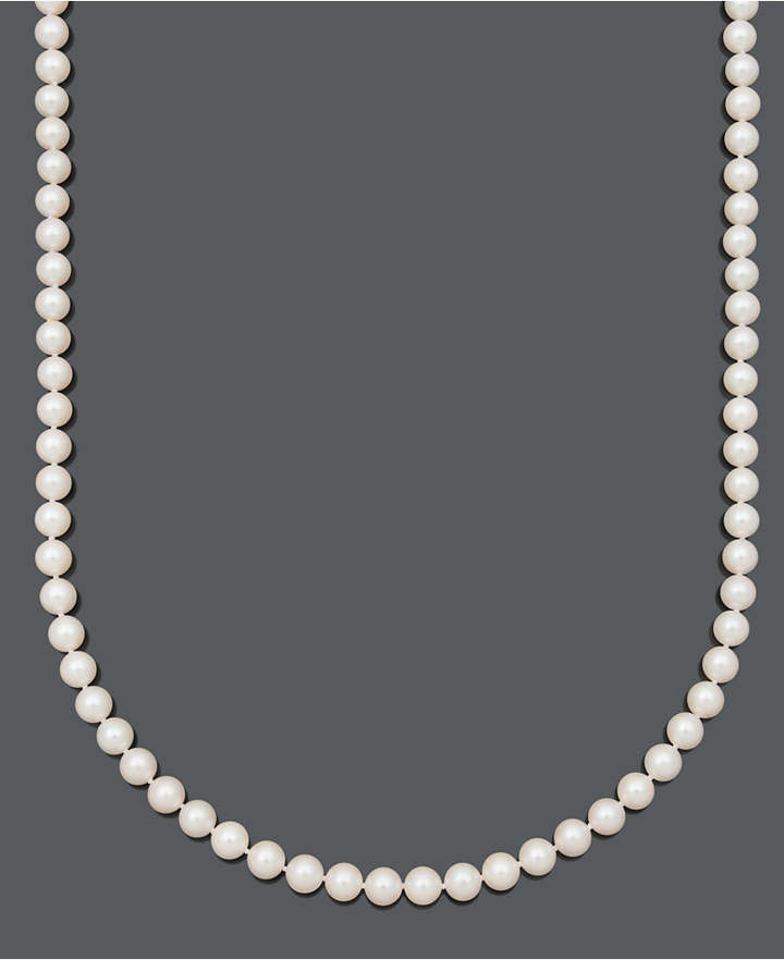 Belle de Mer Pearl Necklace, 20and#034; 14k Gold A+ Cultured Freshwater Pearl Strand (7-1/2-8mm)