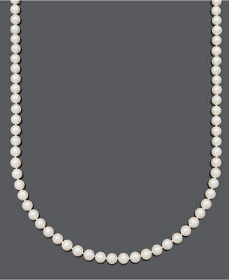 "Belle de Mer Pearl Necklace, 20"" 14k Gold A+ Cultured Freshwater Pearl Strand (7-1/2-8mm)"