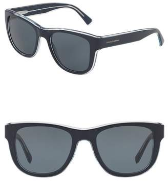 Dolce & Gabbana 54mm Square Solid Sunglasses