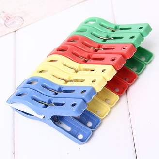 Unbranded Set of 8 Beach Towel Clips in Fun Bright Prevents Towels Blowing Away