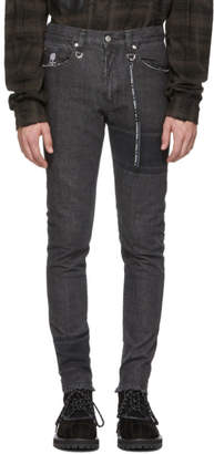 mastermind WORLD Black Striped Skinny Jeans