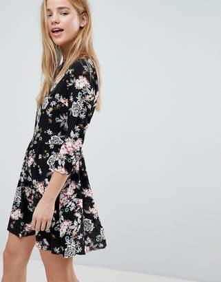 Glamorous Floral Print Skater Dress