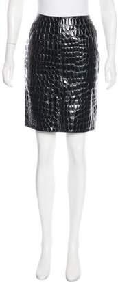 Alaia Vintage Leather Skirt