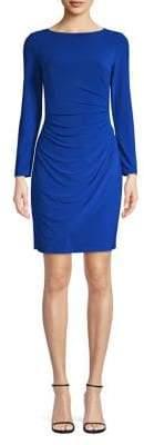 Eliza J Long Sleeve Gathered Sheath Dress