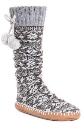 Muk Luks Poms Sock Boot Slipper - Women's