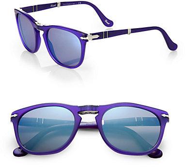 Persol Folding Keyhole Acetate Sunglasses