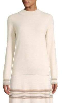 Agnona Cashmere-Blend Metallic Stripe Sweater
