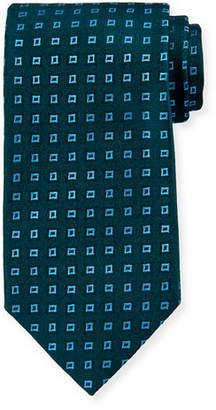 Charvet Floating Squares Silk Tie