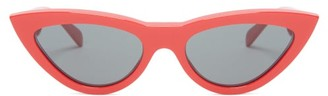 Celine Cat Eye Acetate Sunglasses - Womens - Red