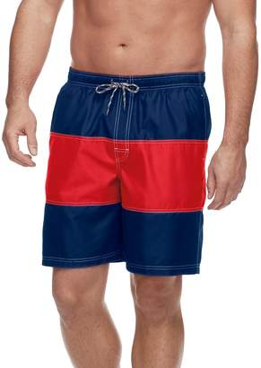 be9b5a26d9bf5 Croft & Barrow Big & Tall Colorblock Swim Trunks