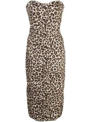 Veronica Beard fitted bustier dress