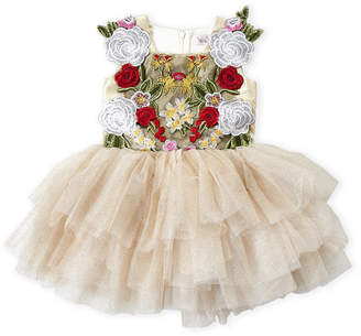 Halabaloo Toddler Girls) Embroidered Tank Sparkle Tutu Dress