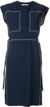Ports 1961 stitch detail drawstring waist dress