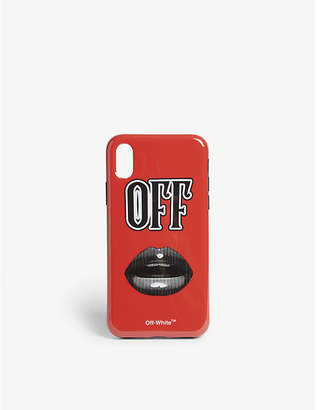 Off-White Lips motif phone case