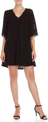 BCBGMAXAZRIA Lace-Up Lace Dress