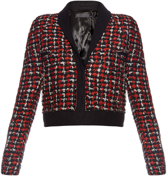 HAIDER ACKERMANN Tweed wool-blend cropped jacket $2,698 thestylecure.com