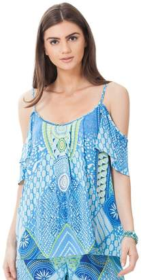 Hale Bob Keana Cold Shoulder Top