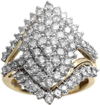 FINE JEWELRY 2 CT. T.W. Diamond 10K Yellow Gold Marquise-Shape Cocktail Cluster Ring $2,500 thestylecure.com