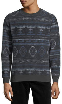 Sol Angeles Men's Aztec Pattern Fleece Sweatshirt