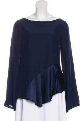 Elizabeth and James Asymmetrical Bell Sleeve Top