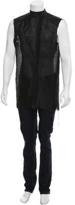 Thamanyah Sleeveless Button-Up Shirt