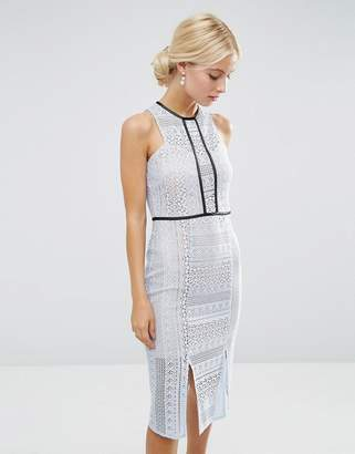 Asos (エイソス) - ASOS Pencil Dress in Lace with Tipping