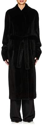 The Row Women's Paret Mink-Fur Coat - Black