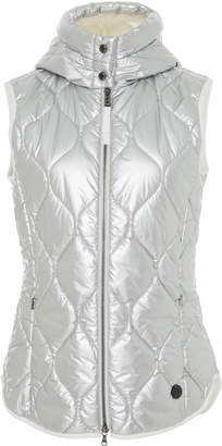 Bogner x White Cube Gigi Metallic Quilted-Shell Hooded Vest