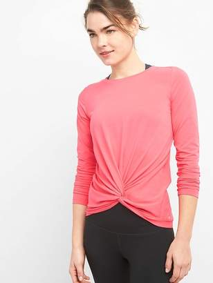 Gap GapFit Twist-Front Long Sleeve Top