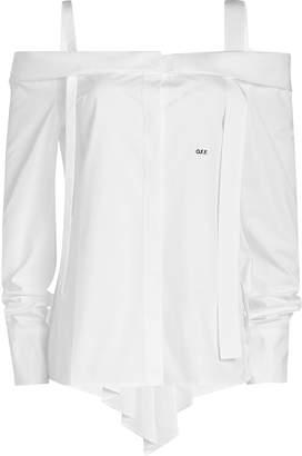 Off-White Off-Shoulder Cotton Shirt