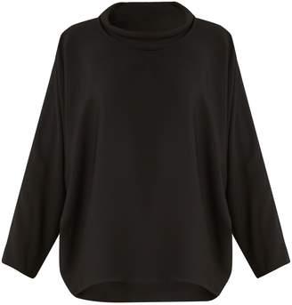Issey Miyake Draped round-neck dolman-sleeve top