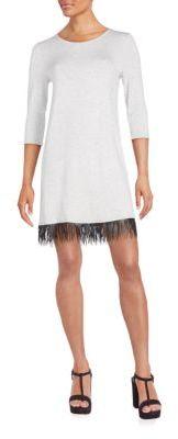 Fringe Jersey Knit-Shift Dress $89 thestylecure.com