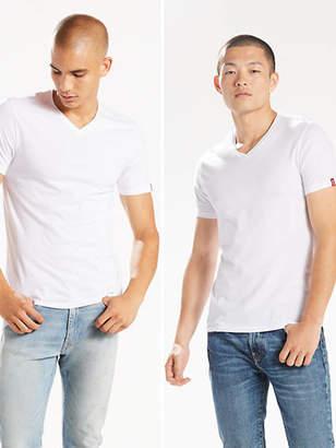 Levi's Slim Fit V-Neck Tee Shirt (2-pack) T-Shirt