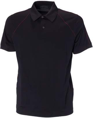 Prada Linea Rossa Pipe Trim Polo Shirt