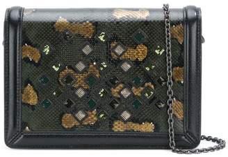 Bottega Veneta metallic stud clutch bag