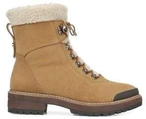 Franco Sarto Rosella Ankle Leather Waterproof Faux-Fur Booties
