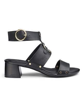 2f8e419802f Simply Be Daria Metal Detail Block Heels Ext Wide