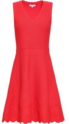 Claudie Pierlot Scalloped Ponte Mini Dress